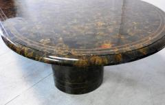 Maitland Smith Penn Shell and Brass Dining or Conference Table by Maitland Smith - 598257