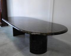 Maitland Smith Penn Shell and Brass Dining or Conference Table by Maitland Smith - 598258