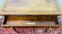 Maitland Smith Regency Maitland Smith Brass Inlay on Mahogany Table with Side Extensions - 1583643