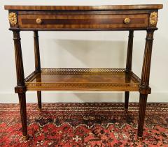 Maitland Smith Regency Maitland Smith Brass Inlay on Mahogany Table with Side Extensions - 1583645