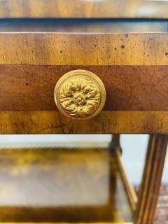 Maitland Smith Regency Maitland Smith Brass Inlay on Mahogany Table with Side Extensions - 1583646