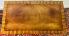 Maitland Smith Regency Maitland Smith Brass Inlay on Mahogany Table with Side Extensions - 1583648