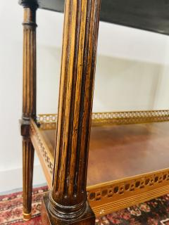 Maitland Smith Regency Maitland Smith Brass Inlay on Mahogany Table with Side Extensions - 1583649