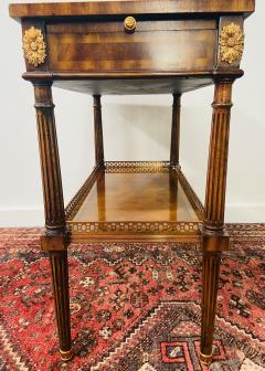 Maitland Smith Regency Maitland Smith Brass Inlay on Mahogany Table with Side Extensions - 1583652