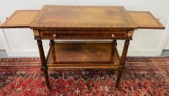 Maitland Smith Regency Maitland Smith Brass Inlay on Mahogany Table with Side Extensions - 1583653