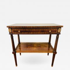 Maitland Smith Regency Maitland Smith Brass Inlay on Mahogany Table with Side Extensions - 1590725