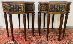 Maitland Smith Regency Style Maitland Smith Mahogany and Leather Library Book Table a Pair - 1583699