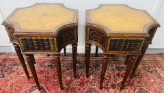 Maitland Smith Regency Style Maitland Smith Mahogany and Leather Library Book Table a Pair - 1583700