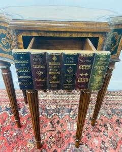 Maitland Smith Regency Style Maitland Smith Mahogany and Leather Library Book Table a Pair - 1583703