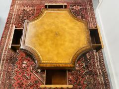 Maitland Smith Regency Style Maitland Smith Mahogany and Leather Library Book Table a Pair - 1583704
