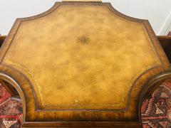 Maitland Smith Regency Style Maitland Smith Mahogany and Leather Library Book Table a Pair - 1583705