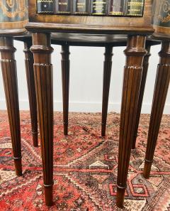 Maitland Smith Regency Style Maitland Smith Mahogany and Leather Library Book Table a Pair - 1583707