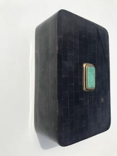 Maitland Smith Tessellated Horn Jewelry Box - 550561