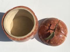 Maitland Smith Tessellated Stone Apple or Pumpkin Storage Box - 736012