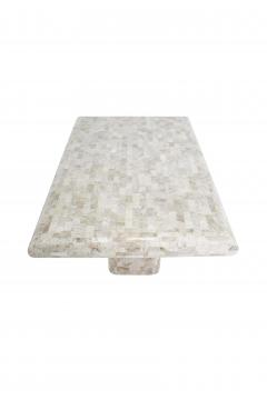 Maitland Smith Tessellated Travertine Dining Table 1970 s - 1632212