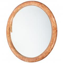 Maitland Smith Tessellated stone and brass mirror by Maitland Smith circa 1980s - 1131588