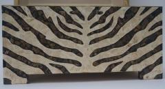 Maitland Smith Zebra Motif Storage Box - 903917