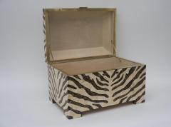 Maitland Smith Zebra Motif Storage Box - 903919