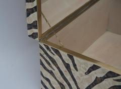 Maitland Smith Zebra Motif Storage Box - 903920