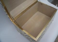 Maitland Smith Zebra Motif Storage Box - 903923
