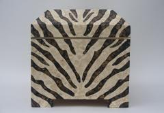 Maitland Smith Zebra Motif Storage Box - 903925