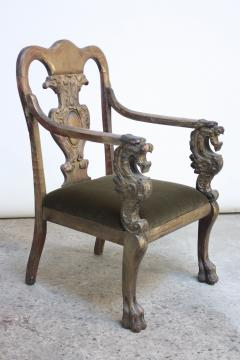 Majestic Odd Fellows Carved and Painted Armchair - 392470