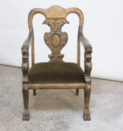 Majestic Odd Fellows Carved and Painted Armchair - 392471