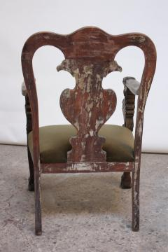 Majestic Odd Fellows Carved and Painted Armchair - 392472