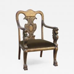 Majestic Odd Fellows Carved and Painted Armchair - 397165