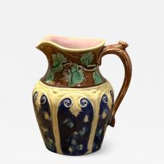 Majolica Pitcher with Grape Vine England Circa 19th Century - 1588136