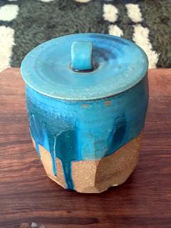 Makoto Yabe Ceramic pot with lid Japanese Mizusashi by Makoto Yabe - 1074669