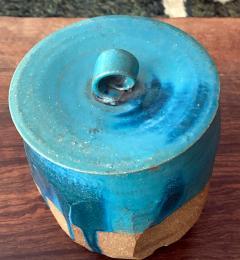 Makoto Yabe Ceramic pot with lid Japanese Mizusashi by Makoto Yabe - 1074670