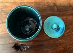 Makoto Yabe Ceramic pot with lid Japanese Mizusashi by Makoto Yabe - 1074671