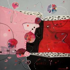 Malgosia Kiernozycka Arigato Diptych Acrylic on Canvas - 1021029