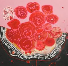 Malgosia Kiernozycka Blood Love Diptych Contemporary Abstract - 1063689