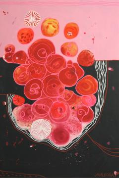 Malgosia Kiernozycka Blood Love Diptych Contemporary Abstract - 1063690