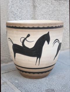 Manufacture Nationale de S vres A Ceramic Vase Signed by Sevres France 1940 - 505829