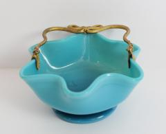 Manufacture de Bercy A Blue Opaline Little Basket in with Mercury Gilt Serpent Mounts - 102929