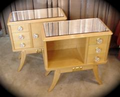 Maple Art Deco Night Stands End Tables Pair - 118176