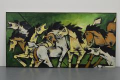 Maqbool Fida Husain Large Maqbool Fida Husain Painting - 1090036