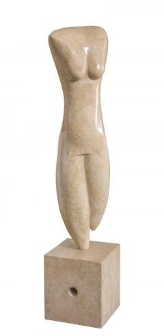 Marble Abstract Figural Sculpture by Oriani Italy 1985 - 536997