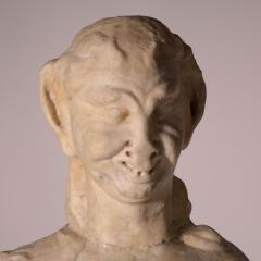 Marble Statue of a Faun Italy 17th Century - 2145115