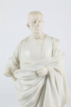 Marble Statue of a Robed Roman Figure - 1405993