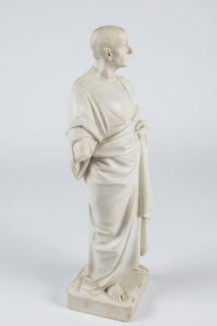 Marble Statue of a Robed Roman Figure - 1405994