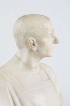 Marble Statue of a Robed Roman Figure - 1405995