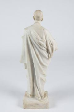 Marble Statue of a Robed Roman Figure - 1405996