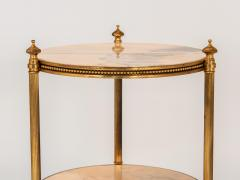 Marble and Brass Side Table - 1667956