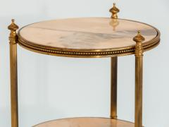 Marble and Brass Side Table - 1667957