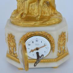 Marble and Bronze Clock Garniture after Jean Michel Clodion French 1738 1814 - 2067120