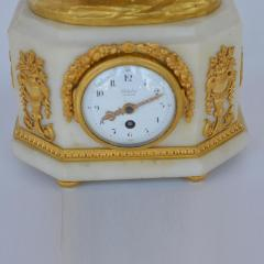 Marble and Bronze Clock Garniture after Jean Michel Clodion French 1738 1814 - 2067125